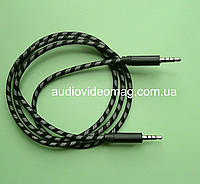Аудио-видео AUX кабель 3.5 (4 pin) штекер-штекер, длина 1 метр