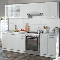 Vicco кухня Raul, кухонный блок, мебельный комплект для кухни, 240 см, цвет белый глянец