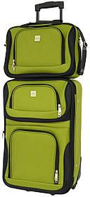 Комплект валізу і сумка Bonro Best маленький Зелений