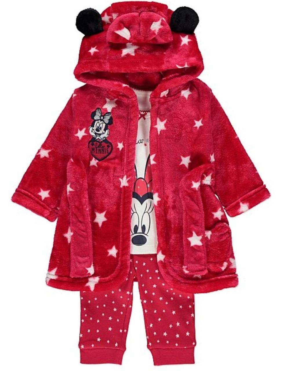 """Набор детский пижама и халат """"Минни"""" George (Англия) р.86см. (12-18мес.)"""
