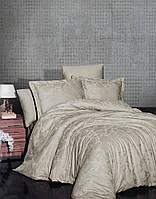 Комплект постельного белья First Choice Jacquard Saral Bej сатин 220-160 см бежевый