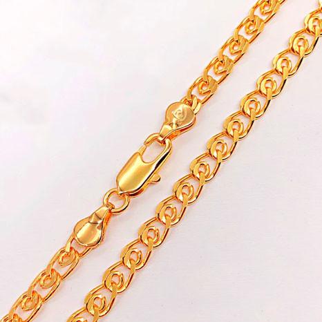 Цепочка Xuping Jewelry 55 см х 5 мм Лав медицинское золото, позолота 18К А/В 4974