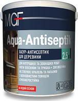 Лазурь-антисептик для дерева MGF AQUA-ANTISEPTIK 2,5л білий