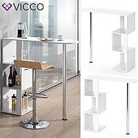 Vicco барная стойка Vincent, стол кухонный, 113х112, цвет белый