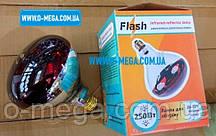 Лампа накаливания ИКЗК 250W, 220V, E27/5000h (инфракрасная зеркальная лампа) наполовину красная