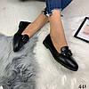 Туфли балетки женские с декором черные эко кожа//В НАЛИЧИИ ТОЛЬКО 39р, фото 5