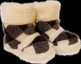 Домашние тапочки из овчины Sheepskin Ромбики Размер 37-38, фото 2