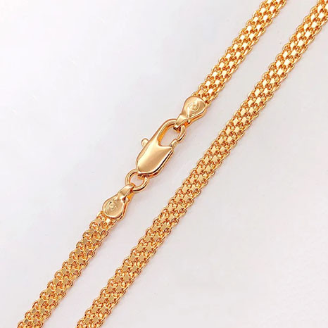 Цепочка Xuping Jewelry 55 см х 4 мм Бисмарк Якорный медицинское золото, позолота 18К А/В 4978