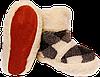 Домашние тапочки из овчины Sheepskin Ромбики Размер 39-40, фото 2