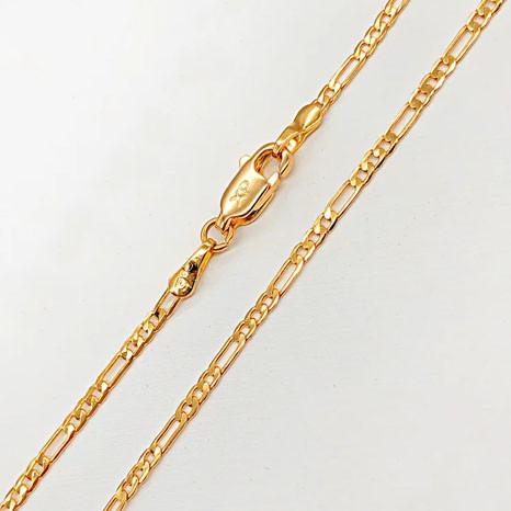 Цепочка Xuping Jewelry 55 см х 2 мм Фигаро медицинское золото, позолота 18К А/В 4979
