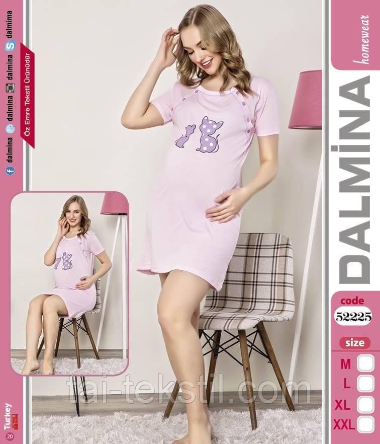 Туника для беременных на пуговичках хлопок 100% в разных цветах DALMINA Турция 52225