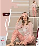 Пижамы женские с брюками хлопок,лайкра,байка,махра...
