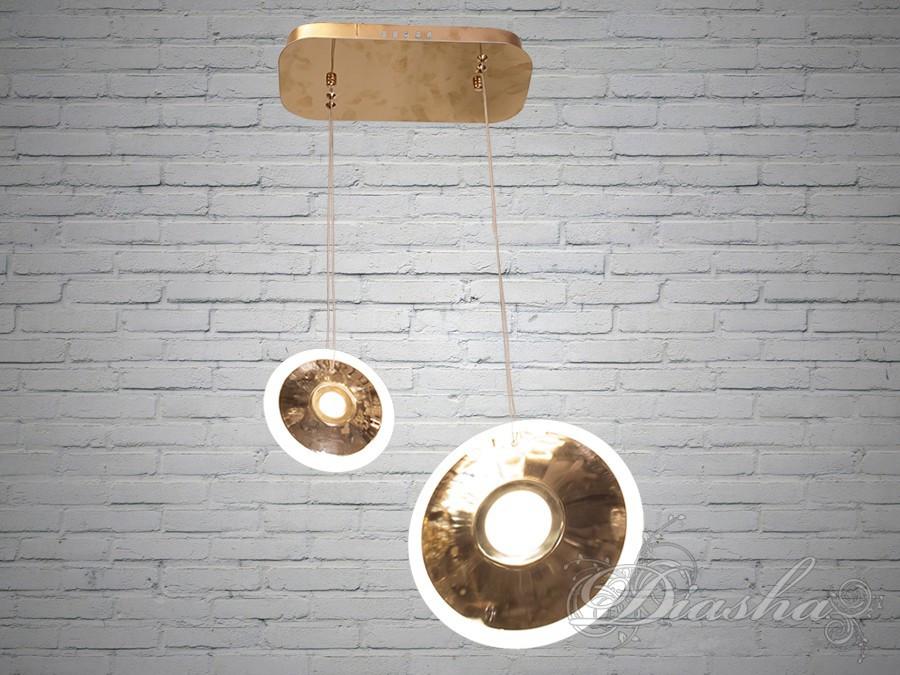 Підвісна LED люстра 6658/1+1-G