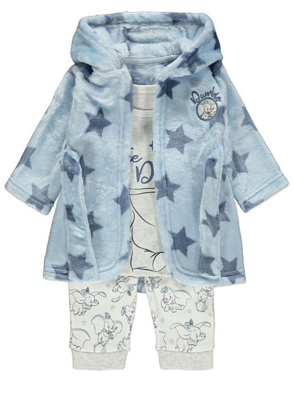 Набор детский халат и пижама George (Англия) р.86см (12-18мес.)