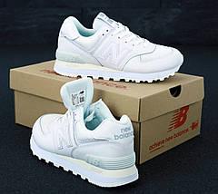 Женские кроссовки New Balance 574 White, фото 2