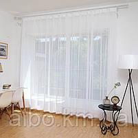 Тюль в спальню кімнату квартиру з турецького шифону, тюль шифон для залу спальні кухні однотонний турецький, стильний тюль для, фото 3