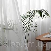 Тюль в спальню кімнату квартиру з турецького шифону, тюль шифон для залу спальні кухні однотонний турецький, стильний тюль для, фото 6