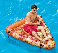 Пляжный надувной матрас Intex 58752 «Пицца», 175 х 145 см