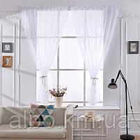 Тюль в спальню кімнату квартиру з турецького шифону, тюль шифон для залу спальні кухні однотонний турецький, стильний тюль для, фото 2