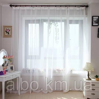 Тюли в спальню из  турецкого шифона ALBO 500x270 cm Белая (T-T-5)