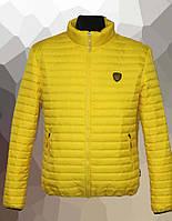 Куртка мужская стеганая большого размера, весна 2020 желтая, 54