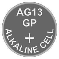 Батарейка часовая щелочная, Alkaline AG13 (A76, V13GA, PX76A, LR44) GP 1.5V
