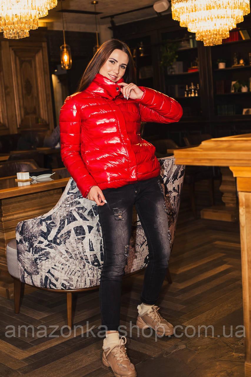Стильная женская лаковая куртка 2020 - (кт-034)