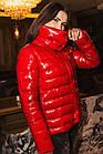 Стильная женская лаковая куртка 2020 - (кт-034), фото 2