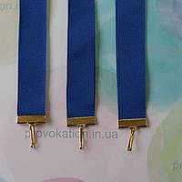 Репсовая лента для медалей и наград, синяя, 20мм, 75см
