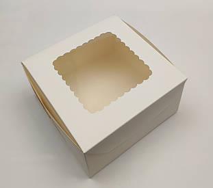 """Коробка для десертов и зефира """"Белая с  окном 17*17*9 см"""" 5 шт"""