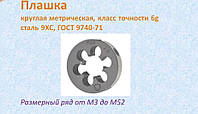 Плашка М 22х2,5