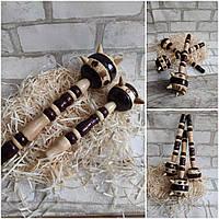 Булава дерев'яна для декору, сувенір, сувенірна, декоративна, вис. 29 см., 45/35 (цена за 1 шт. + 10 гр.)