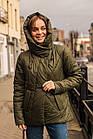 Женская воздушная ветровка с капюшоном весна 2020 - (кт-090), фото 3