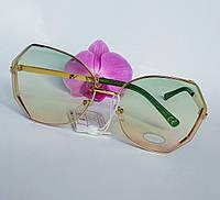 Стильные имиджевые солнцезащитные женские очки градиентные (0685), фото 1