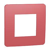 Рамка 1-постова, Червона/білий UNICA NEW NU280213
