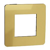 Рамка 1-постова, Золото/антрацит UNICA NEW NU280262
