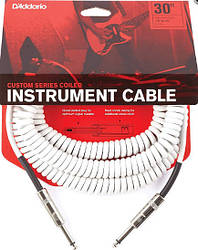 D`ADDARIO PW-CDG-30WH Coiled Instrument Cable - White  Инструментальный кабель