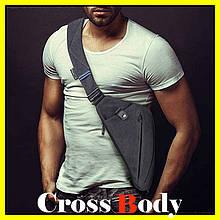 Мужская сумка мессенджер Cross Body, сумка нагрудная, через плечо, кобура, кросс-боди