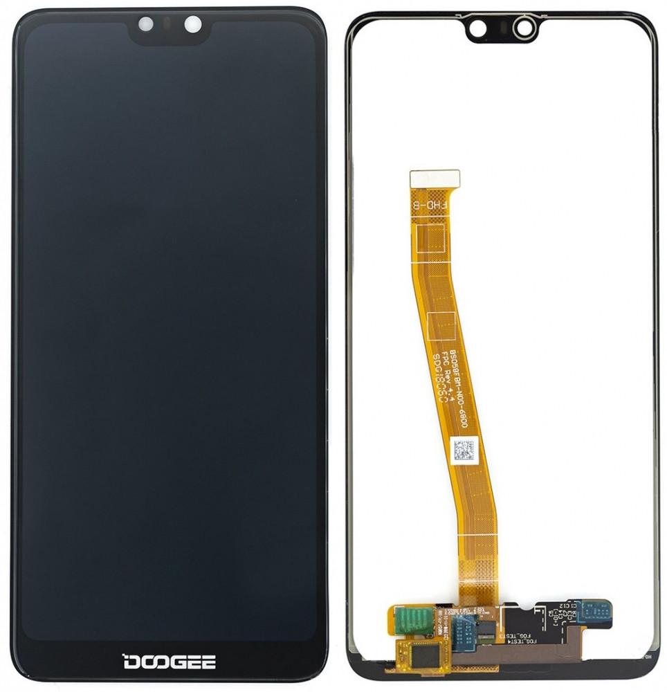 Дисплей Doogee Y7/N10 с сенсором, черный