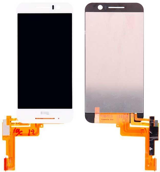 Дисплей HTC One S9 с сенсором, белый