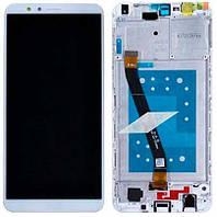 ✅Дисплей Huawei Honor 7X Dual Sim (BND-L21) с сенсором и передней панелью, белый