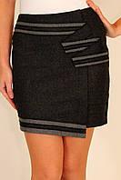 Теплая юбка мини асимметрия 42-48 р