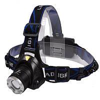 Фонарь ультрафиолетовый налобный, фокусируемый (UV 365nm, 3W,3 режима, 1х18650), комплект