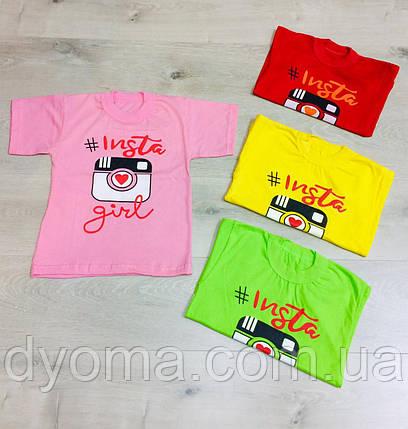 """Дитяча футболка """"Insta"""" для дівчаток, фото 2"""