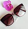 Стильные имиджевые солнцезащитные женские очки бордовые (0687)