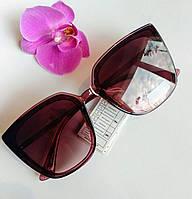 Стильные имиджевые солнцезащитные женские очки бордовые (0687), фото 1