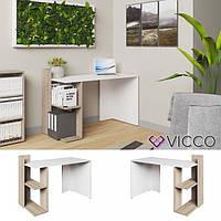 Vicco компьютерный стол Theo, стол для ПК, 121x84, цвет белый сонома
