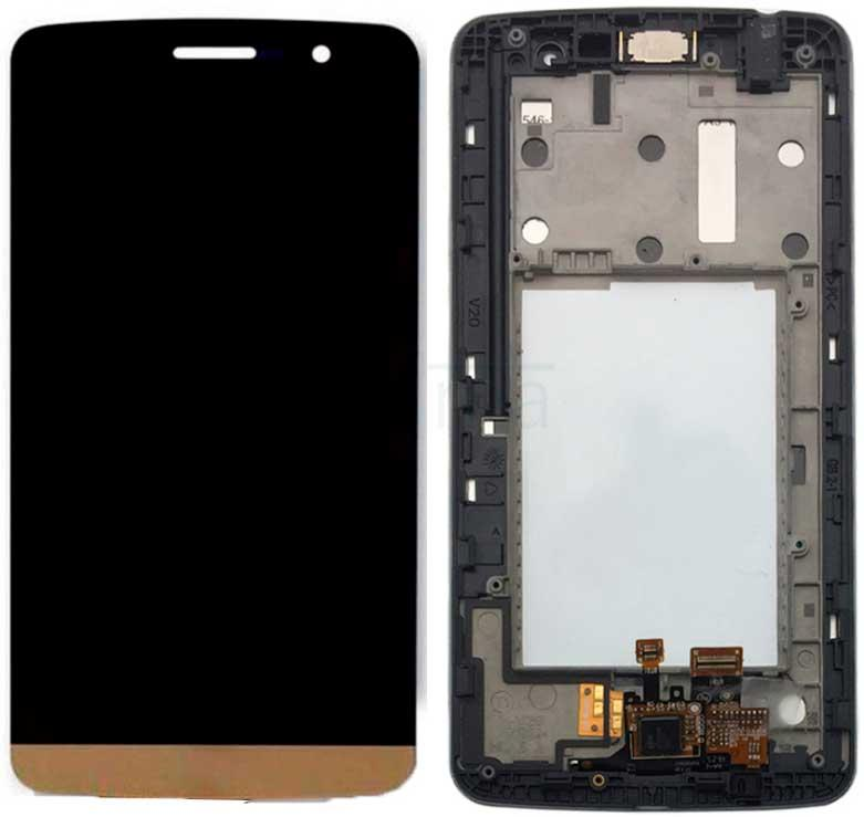 Дисплей LG X190 Ray Dual Sim с сенсором и передней панелью, золотистый