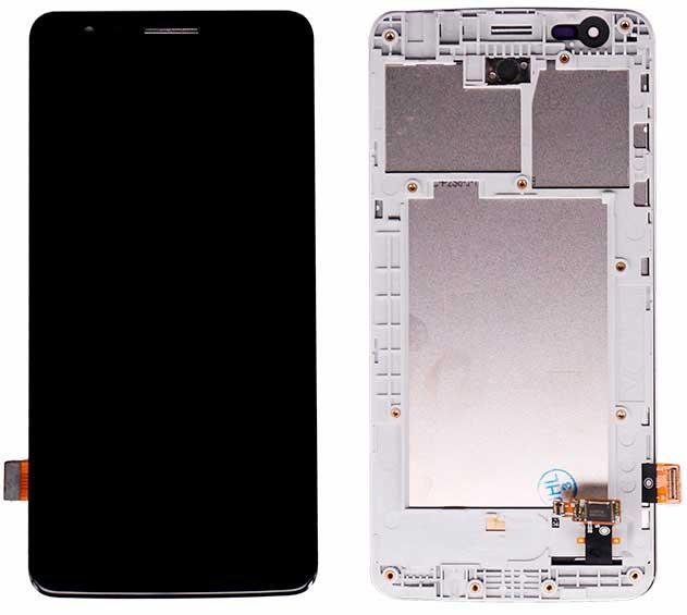 Дисплей LG X240 K8 Dual Sim (2017) / US215 с сенсором и передней панелью, черный