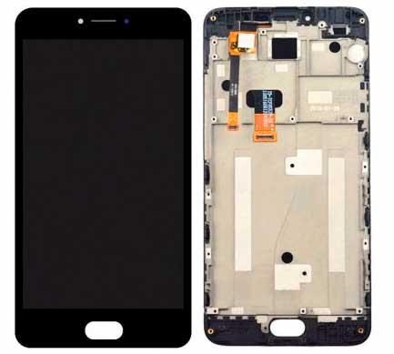 Дисплей Meizu M3 Note (M681H) с сенсором и передней панелью, черный
